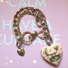 "Selling this ""Betsey Johnson Tea Party Charm Bracelet Locket"" in my Poshmark closet! My username is: katefrancis. #shopmycloset #poshmark #fashion #shopping #style #forsale #Betsey Johnson #Jewelry"
