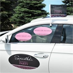 HENS ON BOARD PERSONALISED HEN PARTY CAR WINDOW STICKER CAR DECORATIONS