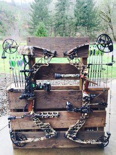 Bow and arrow rack !