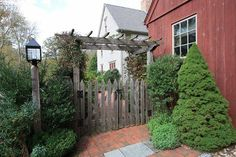 gate and arbour Fence Gate, Fences, Where The Sidewalk Ends, Arbour, Garden Gates, Yard Ideas, Paths, My House, Primitive