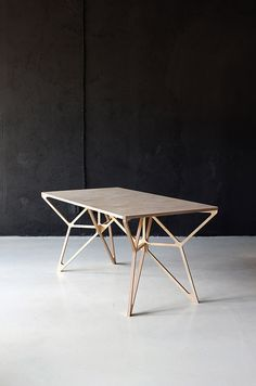 Modern Furniture // Arcademi by DontDIY Architecture and design collective // contemporary plywood table