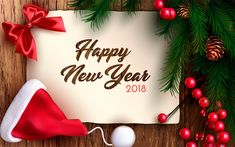 Download wallpapers Happy New Year, 2018, 3d paper, congratulation, Christmas, Christmas tree