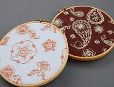 Hand Embroidery Patterns, INDIAN SPICE Paisley and Flower Embroidery Patterns. $5.00, via Etsy.