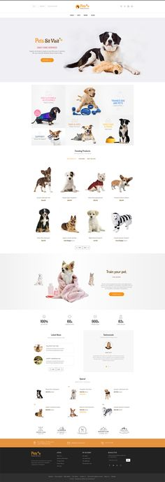 eCommerce, pets, animals, dog, cat, foods, kids, cloths, minimal, accessories and multi-purpose store