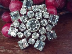Vintage Weiss Rhinestone Pin FREE SHIPPING by VintageMadge on Etsy