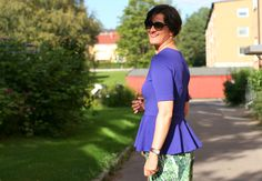 Tall Girl's Fashion / Styling culottes with a peplum top