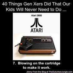 40 Things Gen Xers Did Growing Up -That Our Kids Will Never Need to Do   #ilovethe80s #genx @Jenny From the Blog