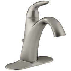 KOHLER K-45800-4-BN Alteo Single-Handle Bathroom Sink Faucet, Vibrant Brushed Nickel