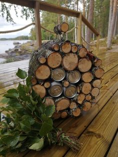 Saunas, Little Gifts, Firewood, Presents, Texture, Crafts, Gift Ideas, Crafting, Gifts