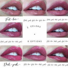 It's amazing how 2 colors can make 8 different on your lips <3