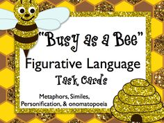 Figurative Language Task Cards FREEBIE