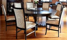 Round Dining Room Sets With Leaf Alliancemv regarding proportions 1280 X 780 Solid Wood Round Kitchen Table And Chairs - Prior to the advent of new Black Round Dining Table, Round Pedestal Dining Table, Dining Table Design, Dining Table Chairs, Kitchen Tables, Room Chairs, Dining Sets, Round Tables, Kitchen Decor