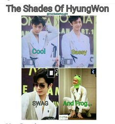 Monsta X Hyungwon, Jooheon, Kihyun, Monsta X Funny, Jin Dad Jokes, Funny Kpop Memes, Starship Entertainment, Girl Day, Meme Faces