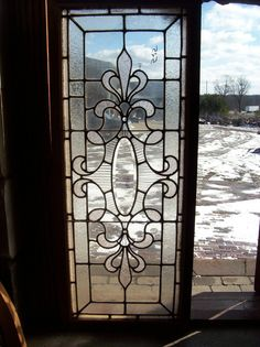 Beveled Oval Center w Fluted Surround Text Glass Window SG 1345 | eBay