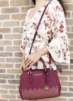 1858f5db2c55 Michael Kors Hayes Medium Messenger Mulberry #MK #MichaelKors #Handbags  Satchel, Michael Kors