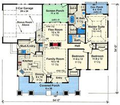 Flex Space and Bonus Room - 14568RK | Architectural Designs - House Plans