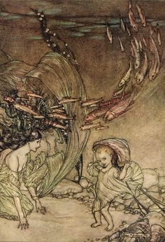 enfance de ondine quot illustration de arthur rackham 1867 1939