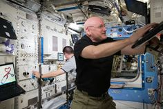NASA Astronaut Scott Kelly works inside the U.S. Destiny Laboratory. Destiny is the primary research laboratory for U.S. payloads, supporting a wide range of experiments and studies contributing to health, safety and quality of life for people all over the world.  Credit: NASA