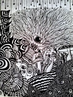 Desenho psicodélico.