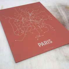 Paris Screen Print Brick Red now featured on Fab.