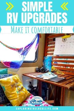 Looking for simple RV upgrades for your RV life? It's not surprising. Most RVs come pretty standard - brown cabinets with beige walls and beige seating area, uncomfortable RV mattress, and cheap faucets that break. Even some of the fanciest rigs still need a few simple RV upgrades to make them more homey and comfortable. It doesn't matter if you are a weekend warrior or a full-time RVer, we have some simple suggestions to help you out. Rv Mattress, Camping Hacks, Rv Camping, Rv Upgrades, Rv Homes, Brown Cabinets, Rv Organization, Diy Rv, Rv Travel