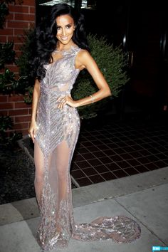 lilly ghalichi sheer dress | While always stunning, Persian Barbie Lilly Ghalichi really turned it ...