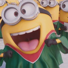 Pre-caroling warm-ups. | Minions Movie | In Theaters July 10th