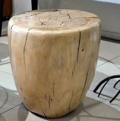 Wood Sculptural Table or Seat by Daniel Pollock   From a unique collection of antique and modern stools at http://www.1stdibs.com/furniture/seating/stools/