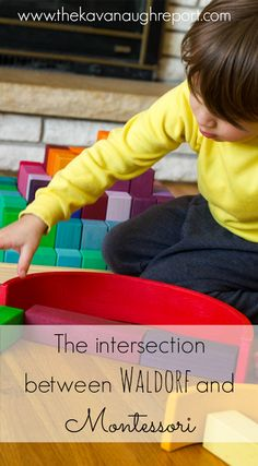 The Intersection Between Montessori and Waldorf -- how we incorporate Waldorf play into our Montessori home.