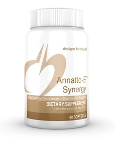 annatto-e-synergy - Annatto Tocotrienols is a unique tocopherolsfree, tocotrienols-only product, containing 125 mg tocotrienols
