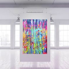 Sold artworks Archives - Ivana Olbricht Palette Knife Painting, Dancing In The Rain, Golden Color, Artworks, Tapestry, Abstract, Modern, Hanging Tapestry, Summary
