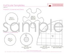 Felt Play Food Pattern  Ice Cream Set PDF  DIY by sweetemmajean,