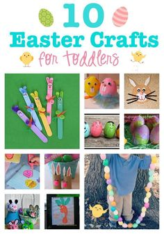 10 Darling Easter Crafts for Toddlers to Make