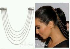 Beautiful Silver Chains Fashion Head Jewelry