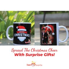 The most exciting thing about Christmas is opening the presents! Give this joy & excitement to your dear ones with our best collection of surprise gifts! Personalized Christmas Mugs, Personalized Gifts, Present Gift, Surprise Gifts, Hyderabad, Couple Gifts, Cheer, Merry Christmas, Presents