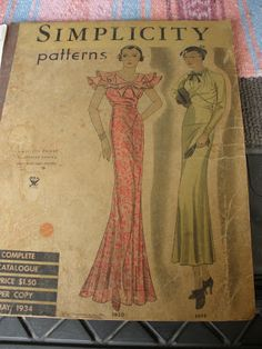 Simplicity Patterns, May 1934 featuring Simplicity 1420 and 1426
