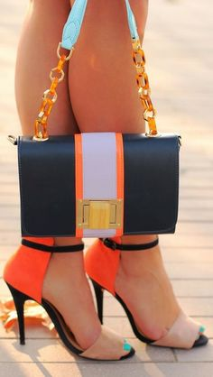 ༺♥ * Stilettos~Pumps~Heels * ♥༻ ***Lovely colorful heels and bag combo shoes+bags=LOVE Stilettos, High Heels, Pumps Heels, Black Heels, Cute Shoes, Me Too Shoes, Awesome Shoes, Fashion Shoes, Fashion Accessories