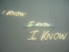 Tracy Emin I KNOW ×I KNOW× I KNOW
