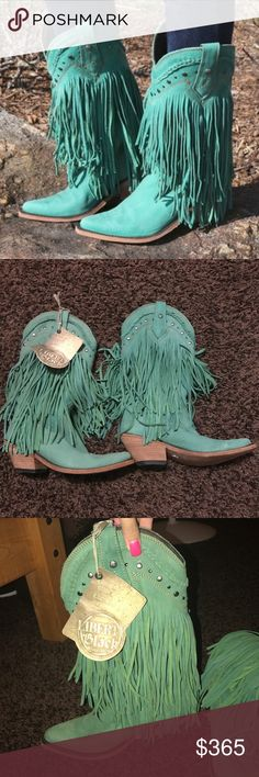 Liberty Black Fringe Boots These are liberty black cowboy fringe boots. They are a size 7 and still have the tags. I do not have the box but they have never been worn. I recently got another pair very similar so that's why I am selling these. They were purchased for $365 and that's not including tax. liberty black Shoes Heeled Boots