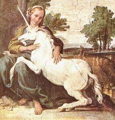 Unicorn and Virgin maiden