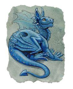 baby blue dragon by `hibbary on deviantART