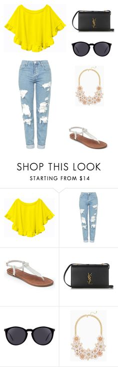 """""""Untitled #75"""" by bleona-ermonda on Polyvore featuring Topshop, Apt. 9 and Yves Saint Laurent"""