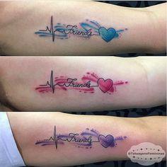 WEBSTA @ tatuagensfemininas - Tattoo feita entre amigas em Aquarela / Watercolor • Tattoo Artist:  @Dudasantanatattoo.ℐnspiração 〰 ℐnspiration ..#tattoo #tattoos #tatuagem #amigas #friends #watercolor #tatuaje #ink #tattooed #tattooedgirls #TatuagensFemininas