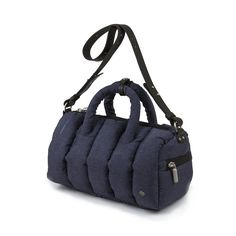 Quilted Bowling Bag Navy on Mandarina Duck Shop