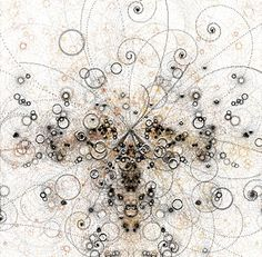 """In addition to everything else, the collision of particles makes for an interesting art: """"Simulated Bubble Chamber"""" Elementary Particle, Large Hadron Collider, Generative Art, Quantum Mechanics, Quantum Physics, Dark Matter, Patterns In Nature, Sacred Geometry, Science And Technology"""
