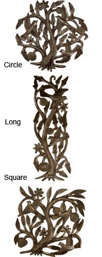 Haitian Recycled Steel Tree of Life from The Animal Rescue Site (I like the circle one)