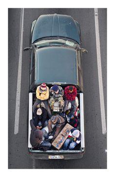 Car Poolers, Mexico, 2011-2012, by Alejandro Cartagena.