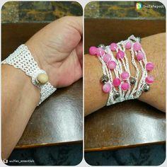 Crochet Healing Stone Bracelet:) coming soon to my etsy shop :)