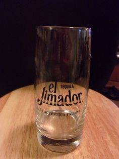 El Jimador Tequila Clear Collectible Glass Tall Highball Style 6 1/2 inches