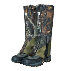 c77a82432 Double Layer Waterproof Woodland Camouflage Gaiters - Choice Camo